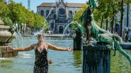 IN BEELD: zo zocht Brussel verkoeling op deze hete donderdag