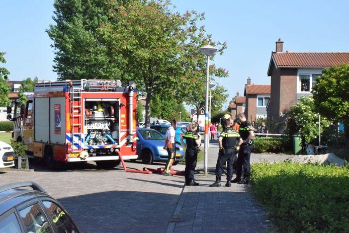 De brandweer kwam ter plaatse om de boel te blussen.