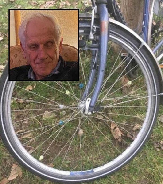 De fiets van Rob van Berkel werd zondag gevonden in Liempde, Van Berkel zelf (inzet) wordt nog vermist.