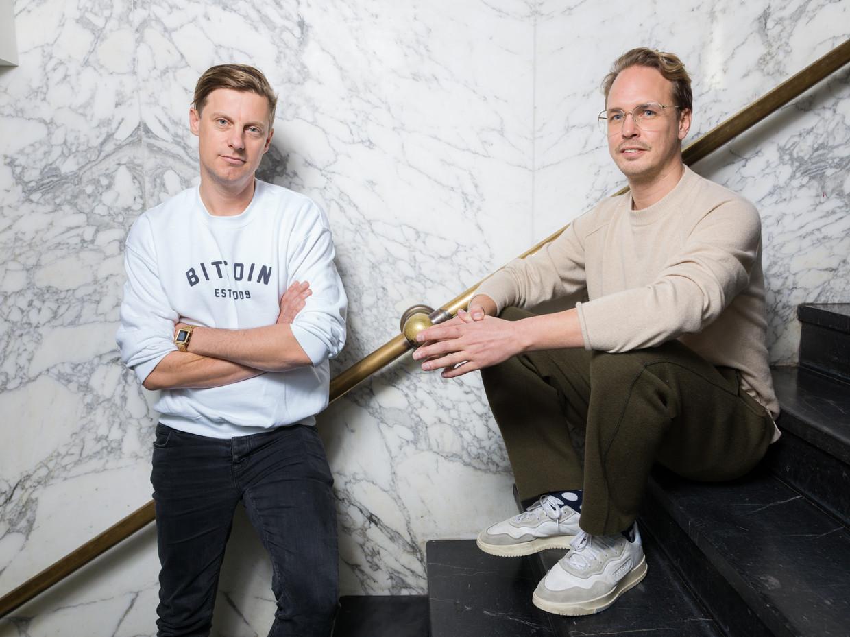 ADE-directeuren Meindert Kennis en Jan-Willem van de Ven in Vondel CS. Beeld Ivo van der Bent
