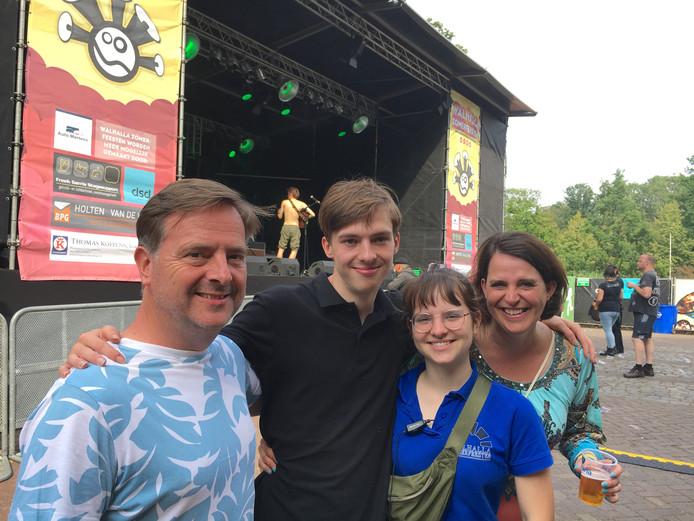 Het Walhalla-gezin Wim, Tijs, Lin en Mariken.