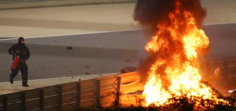 Grosjean stapt wonder boven wonder levend uit vuurzee in Bahrein