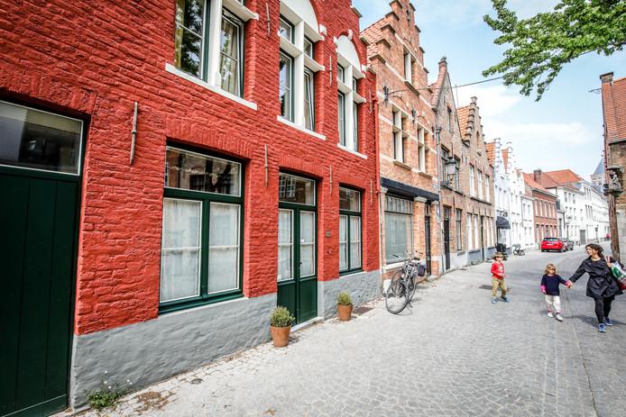 Brugge poppentheater in de Moerstraat.
