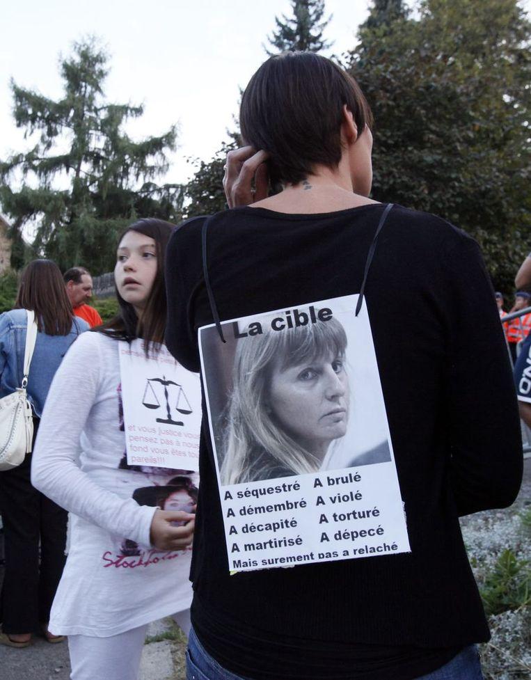 Protest tegen de komst van Martin. Beeld reuters