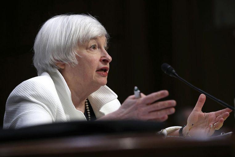 Janet Yellen, de baas van de Federal Reserve, manipuleert volgens Trump de (zeer lage) rentestanden Beeld null