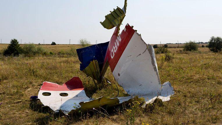 Resten van toestel MH17. Beeld anp