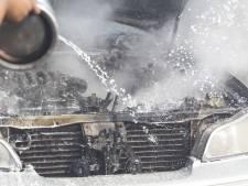 Bestuurder beschonken, auto vliegt in brand bij thuiskomst in Den Bosch
