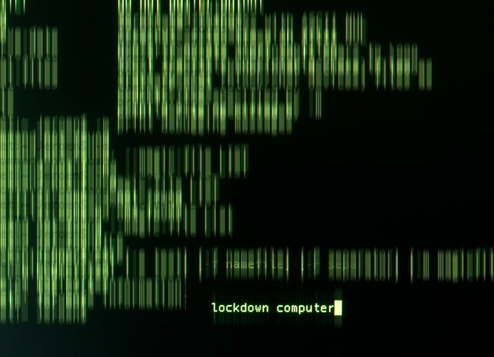 Een gehackte computer, foto ter illustratie