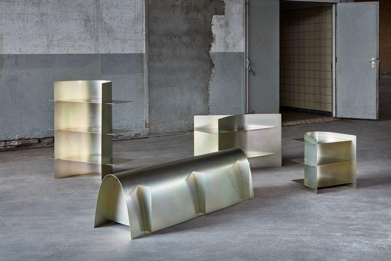 Werk van Paul Coenen in het HAKA-gebouw tijdens Object Rotterdam. Beeld Ronald Smits