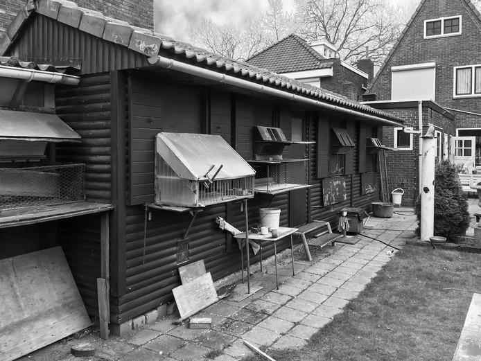 De plek waar Cor Smulders zijn duiven hield, foto gemaakt door zijn dochter Petrie Smulders.