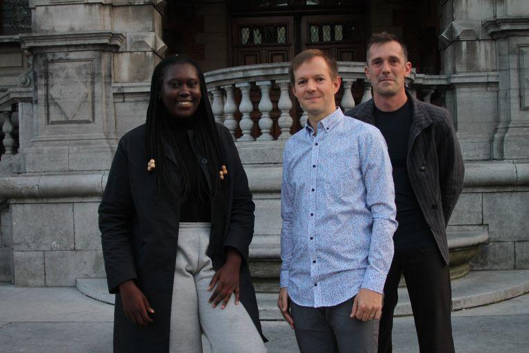 Nieuwe fractieleidster Aïssatou Cissé, nieuwe schepen Ben Segers en nieuw raadslid Koen Van Roey
