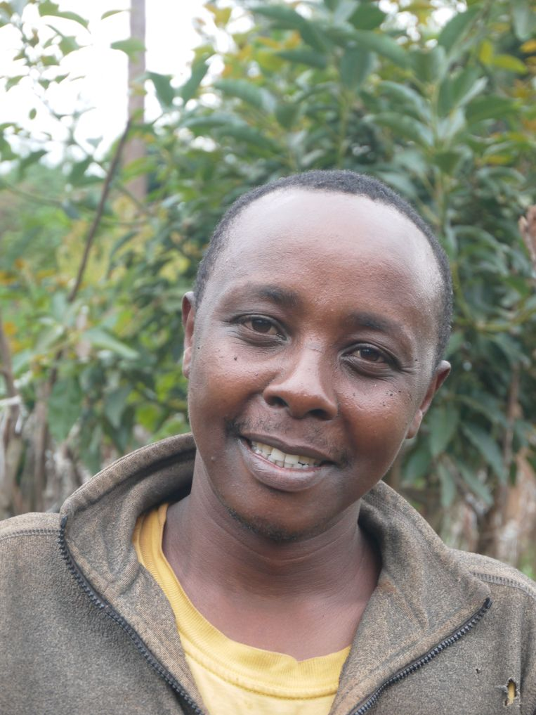 Franklin Mwandiki: 'Eigenaren van restaurants komen kisten tomaten tegelijk kopen'.  Beeld Ilona Eveleens
