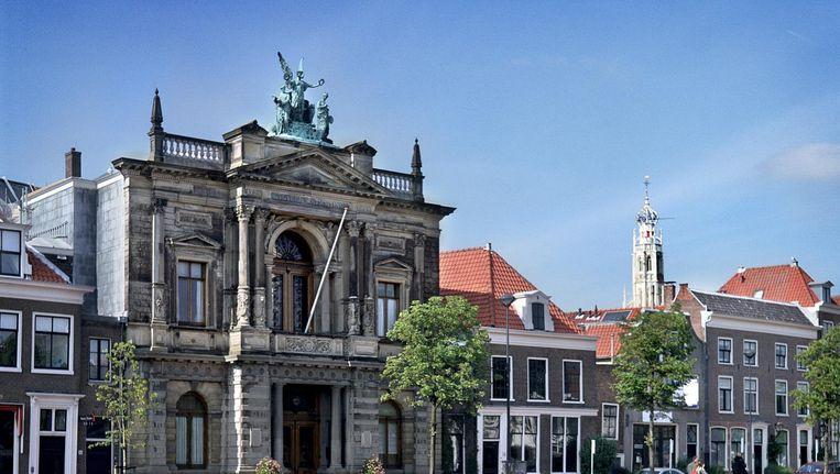 Teylers Museum aan het Spaarne in Haarlem. Beeld null