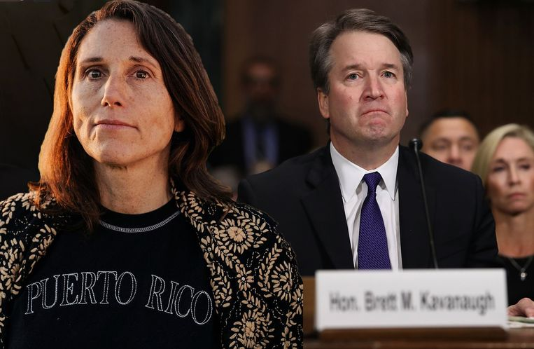 Deborah Ramirez (links) en Brett Kavanaugh.