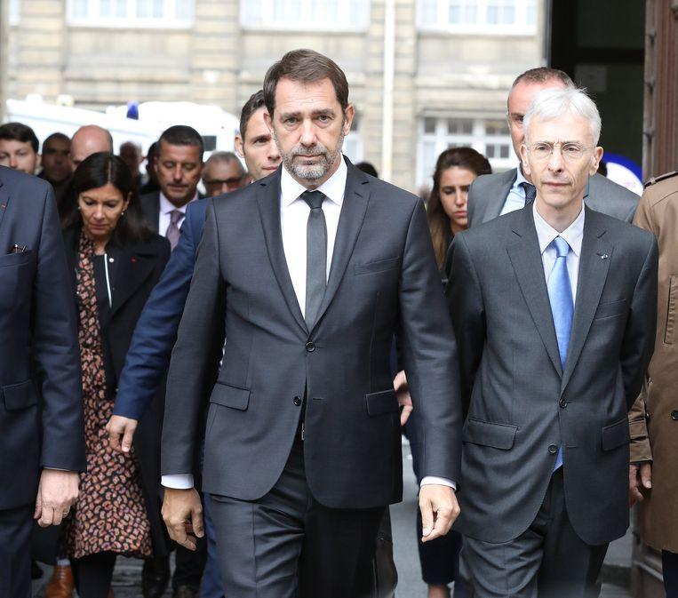 Minister van Binnenlandse Zaken, Christophe Castaner, na de aanval in Parijs.