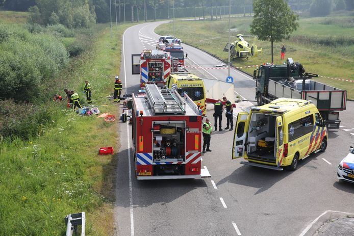 Ongeluk op Markiezaatsweg in Bergen op Zoom.