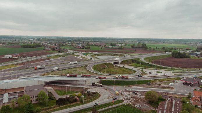 Bij de werken aan het nieuwe afrittencomplex van de E40 in Aalter werden heel wat bestuurders geflitst.