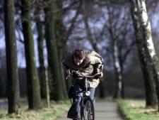 Verkeer afgeremd en fietsers in het licht op Astense Dijkstraat