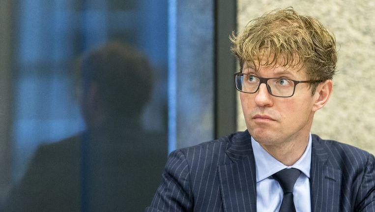 Staatssecretaris Sander Dekker tijdens het wetgevingsoverleg in de Tweede Kamer over de mediawet. Beeld anp
