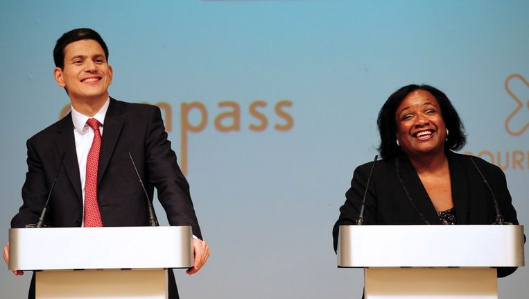 David Miliband en Diane Abbott. Beeld EPA
