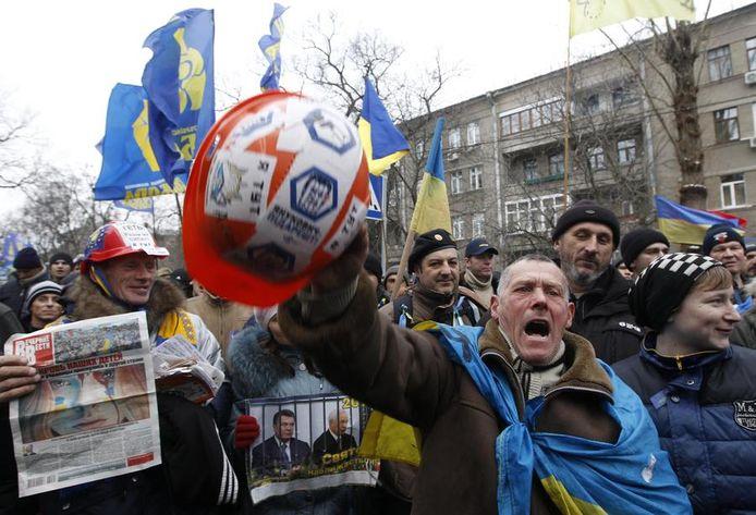 Pro-Europese protestanten verzamelen zich vandaag in Kiev.