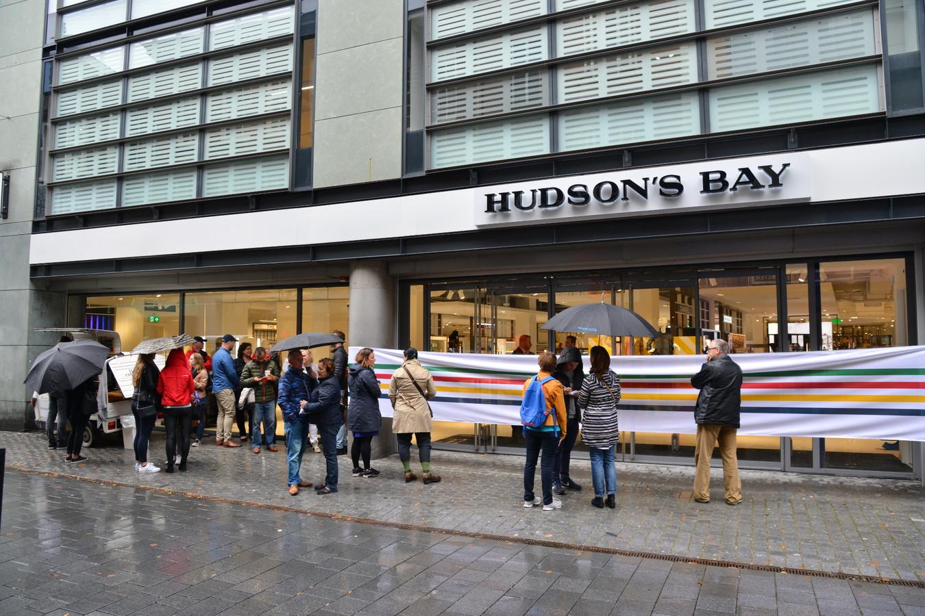 Hudson's Bay vlak voor de opening in Breda.