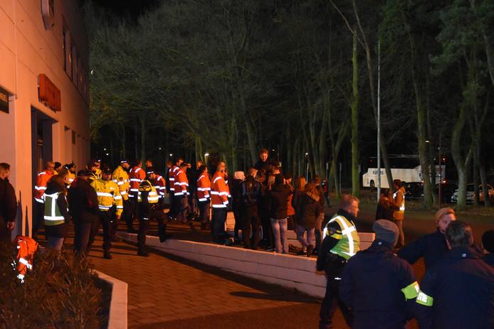 Oefening bij het Goffertstadion in Nijmegen.