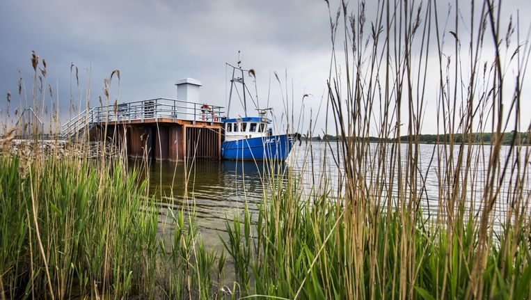 De nieuwe vispassage bij de Afsluitdijk die vandaag geopend wordt. Beeld Raymond Rutting