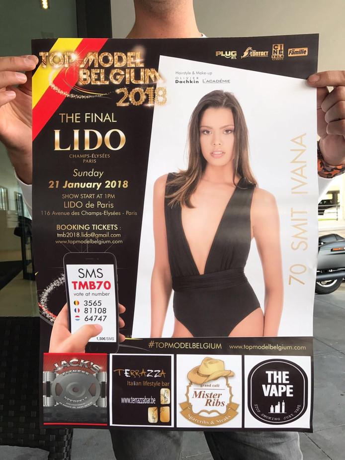 Ivana Smit op de poster van Topmodel 2018