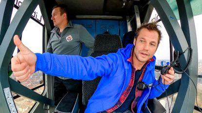 Ondanks hoogtevrees bestuurde Mathias Coppens 120 meter hoge torenkraan voor 'Beat VTM'