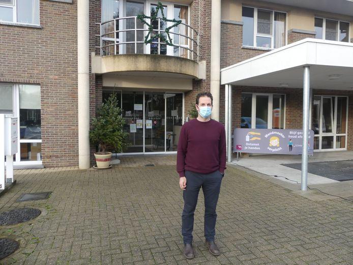Directeur Maarten Bogaert aan woonzorgcentrum Wielkine.