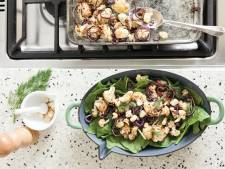 Wat Eten We Vandaag: Geroosterde bloemkoolsalade met cranberry's en roze peper