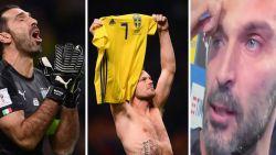 Drama voor Italië en afscheidnemende Buffon: geen goals tegen Zweden en voor eerst sinds 1958 er niet bij op WK