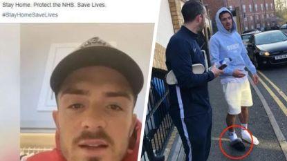 Aston Villa-ster Grealish roept op om binnen te blijven, waarna hij drie wagens aanrijdt na een feestje