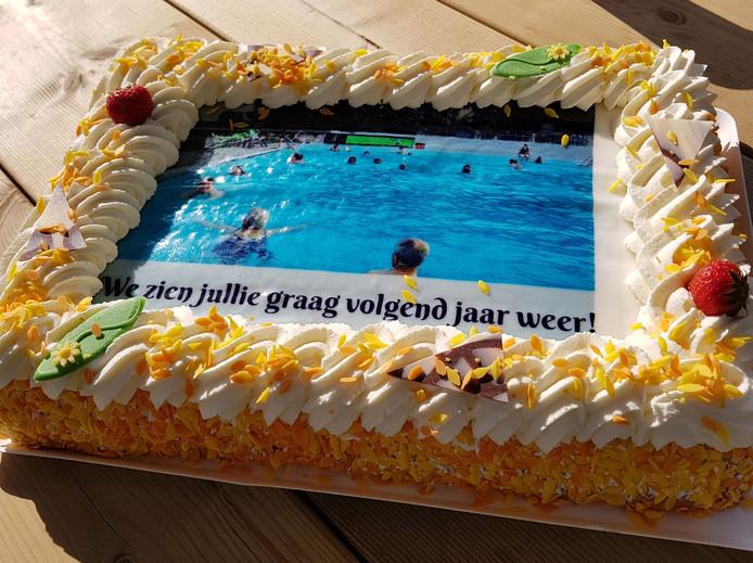 Voor de trouwe bezoekers was er taart.