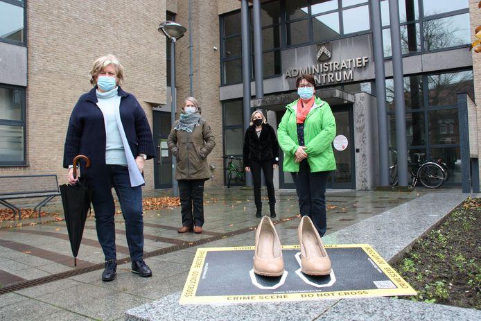 De afdeling van Vrouw & Maatschappij in Gistel vraagt aandacht voor gendergerelateerd geweld.
