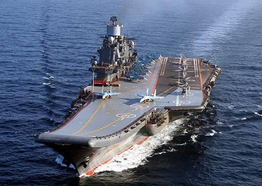 De Koeznetsov is Ruslands enige vliegdekschip.