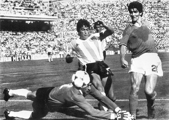Paolo Rossi face à l'Argentine lors du Mondial 1982