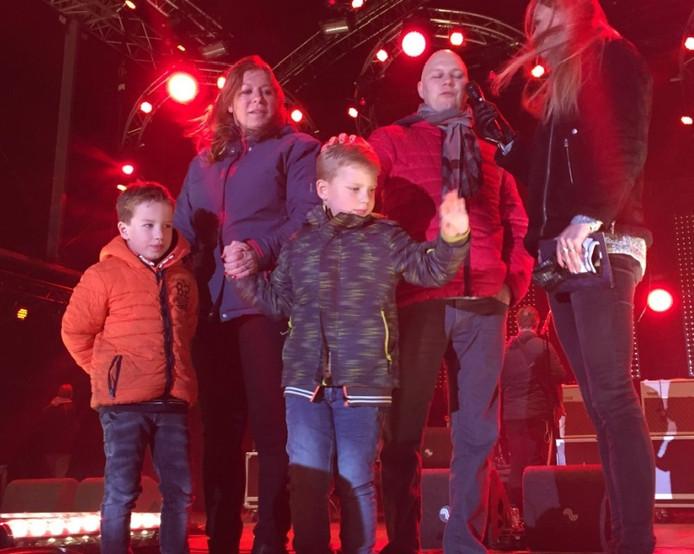 Tijn met zijn familie op het Chasséveld in Breda.