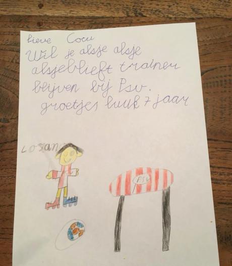 Briefschrijver Luuk uitgenodigd door smeekbede aan Cocu om in Philips Stadion te komen: 'Hij is door het dolle heen'