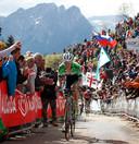 Wilco Kelderman beklimt de Zoncolan in de Giro van 2014.