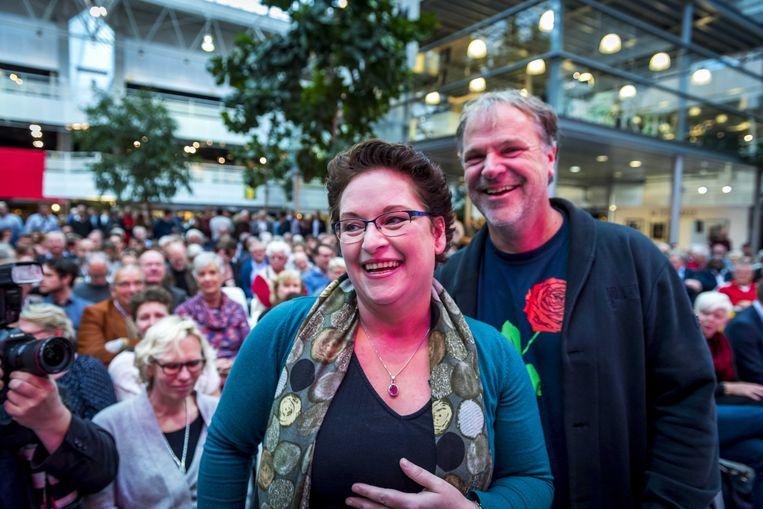 Nelleke Vedelaar werd gepresenteerd als nieuwe voorzitter van de PvdA. Beeld ANP