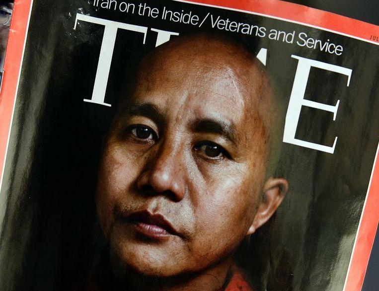 De omslag van de buitenlandeditie van TIME. Beeld afp