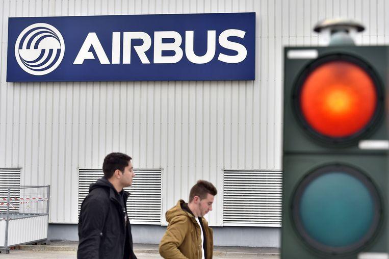 De Airbus-fabriek in Bouguenais, Frankrijk.