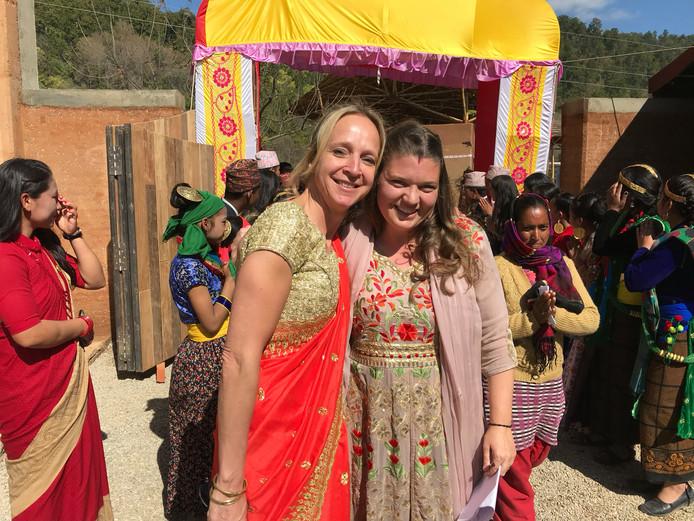 Floortje reisde terug naar Nepal om Maggie te ontmoeten.