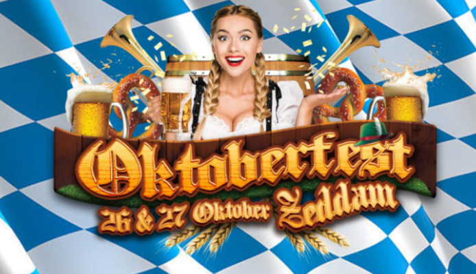 Het affiche van het Oktoberfest in Zeddam.
