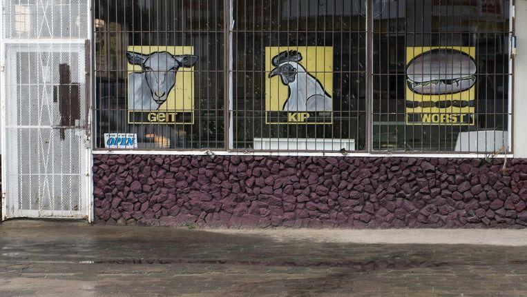 De slagerij in Paramaribo waar de opgepakte broers werkten Beeld ANP