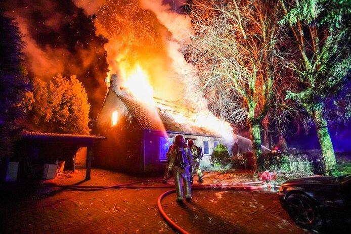 De woningbrand in Sterksel, zaterdagochtend.