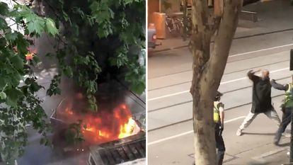 Video toont moment waarop man met mes uithaalt naar politie in Melbourne - IS eist steekpartij op: één dode en twee gewonden