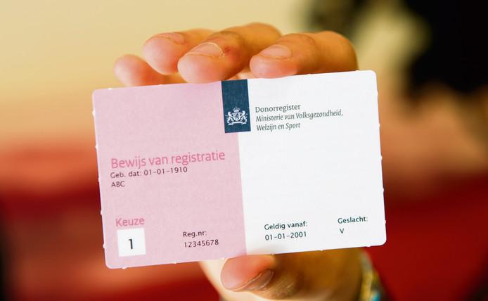 Op dit moment heeft minder dan de helft (44 procent) van de volwassen Nederlanders zijn keuze geregistreerd in het donorregister.